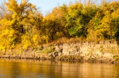 Autumn River Ural — Stock Photo
