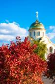 Church in autumn — Stock Photo