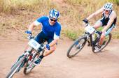 Competition cyclists — Stock Photo