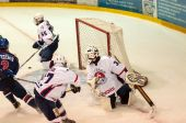 Hockey with the puck  — Stock fotografie