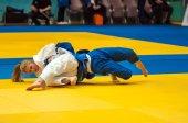 Fighter girl in Judo — Photo