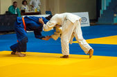 Judo competition youth.  — Stock Photo