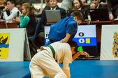 Two judoka — Stockfoto