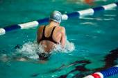 Swimming breaststroke — Stock Photo