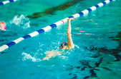 Girl backstroke  — Stockfoto