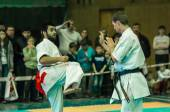 Duel of karate practitioners — Stockfoto