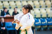 Girl judoka — Stock Photo