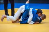 Two judoka — Stock Photo