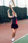 Girl tennis, — Stock Photo