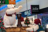 Natale orso polare — Foto Stock