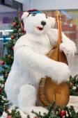 Oso polar de la navidad — Foto de Stock