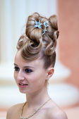 Trends in wedding hairstyles — Stock Photo
