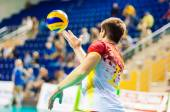 Men play volleyball — Stock Photo