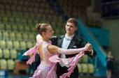 Young couples compete in sports dancing — Stock Photo