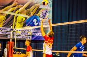 Male competitions in volleyball — Stock Photo