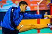 Male competitions in volleyball — Foto de Stock