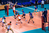 Male competitions in volleyball — ストック写真