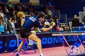 Zawody tenisa stołowego — Zdjęcie stockowe