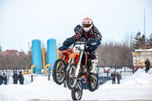 Motocross in winter. — 图库照片
