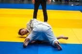 Two judoka, — Zdjęcie stockowe