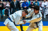 Two judoka, — Stock Photo
