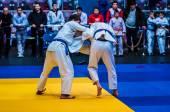 Two judoka, — Stock Photo