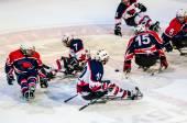 Game in ice sledge hockey — Stock Photo