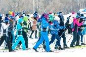 Cross-country skiing, — Stock Photo