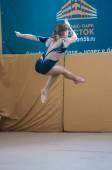 女孩体操运动员 — 图库照片