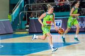 Girls play basketball, — Foto Stock