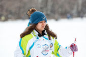 Cross-country skiing competitions — Stock Photo
