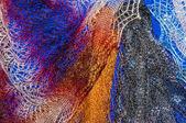 Orenburg downy shawl — 图库照片
