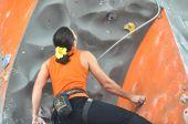Rock climbing, — Stock Photo