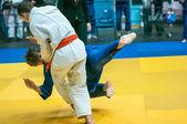 Competiciones de Judo entre muchachos, Orenburg, Rusia — Foto de Stock