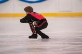 Boy in figure skating, Orenburg, Russia — Stockfoto