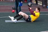Men compete in fitness Crossfit, Orenburg, Russia — ストック写真