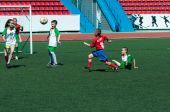Children play football — Stock Photo