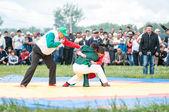 Wrestling on belts or Koresh — Stock Photo