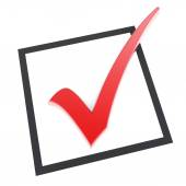Red check mark — Stock Photo