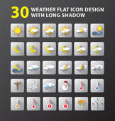 Weather flat icon design — Stock Vector