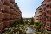 Hotel de antalya, türkiye'de deniz manzaralı — Stok fotoğraf