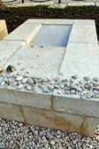 Traditional Jewish tombstone with small stones on top — Stock Photo