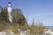 Cana Island Lighthouse Beach View — Stock Photo
