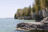 Cave Point Shoreline — Stock Photo