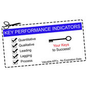 Blue Key Performance Indicators Coupon — Stock Photo
