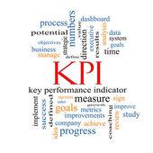 KPI Word Cloud Concept — Stock Photo