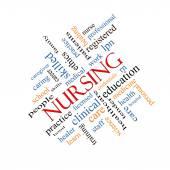 Nursing Word Cloud Concept Angled — Stock Photo