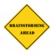 Brainstorming Ahead Sign — Stock Photo #52574299