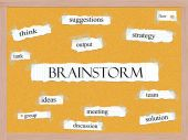 Brainstorm Corkboard Word Concept — Stock Photo