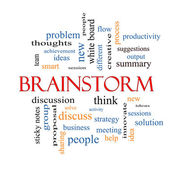 Brainstorm Word Cloud Concept — Stock Photo